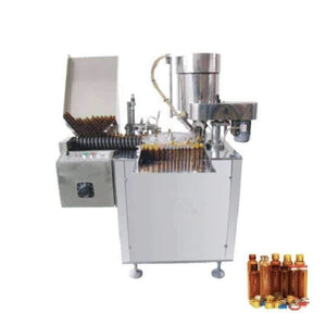 automatic 4 heads 10ml oral liquid filling and capping machine