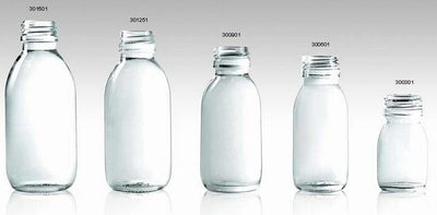 Clear Glass Bottles for Syrup Din Pp 28mm - Pharmaceutical Glass Bottle