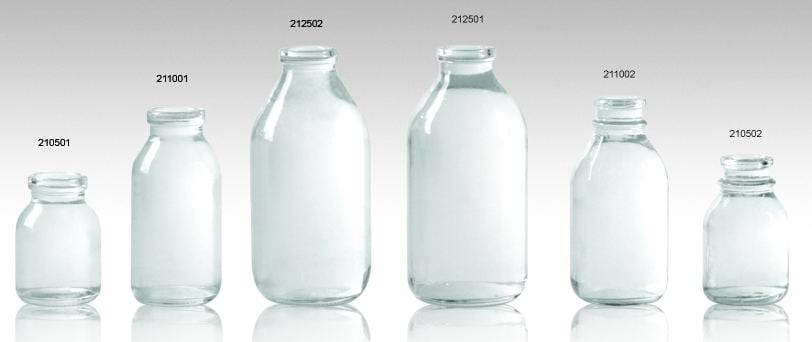 Clear Infusion Bottles Ring Finish Iso/sfda 32mm Sfda 28mm Usp Type Ii - Pharmaceutical Glass Bottle