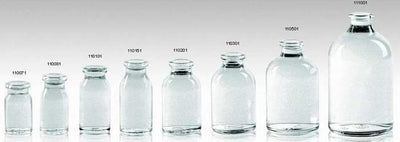 Clear Moulded Injection Vials for Antibiotics Ring Finish Iso/sfda 20mm Usp Type Ii,iii - Pharmaceutical Glass Bottle