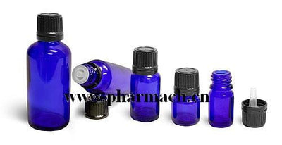 Cobalt Blue Glass Bottle - Body Care Glass Bottle