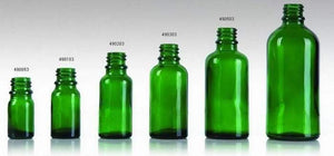 Green Glass Dropper Bottle - Body Care Glass Bottle