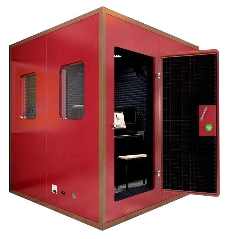 Home studio recording piano drum booth