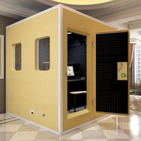 Home studio vocal silence drum booth