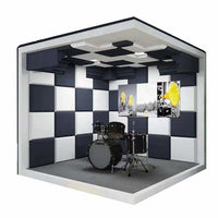 Mobile studio drum sound insulation host live broadcast room household KTV training house piano musical instrument room