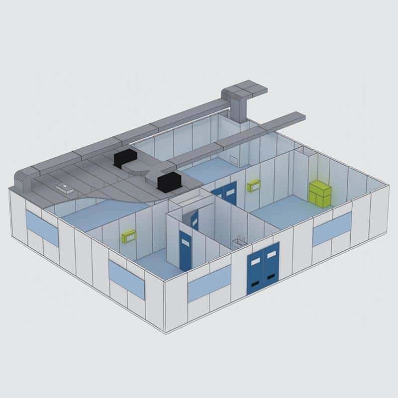 Iso 7 Modular / Portable Clean Room Design And Set Up