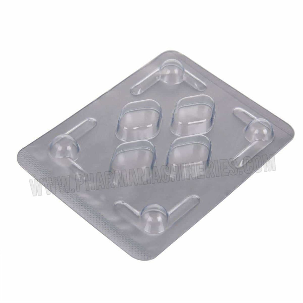 Rhombic Tablet Blister Packing Sheet with 4 holes
