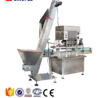 Rubber dropper aluminum screw Cap glass penicillin bottle dry powder filling machine 40bpm with CE exported Europe