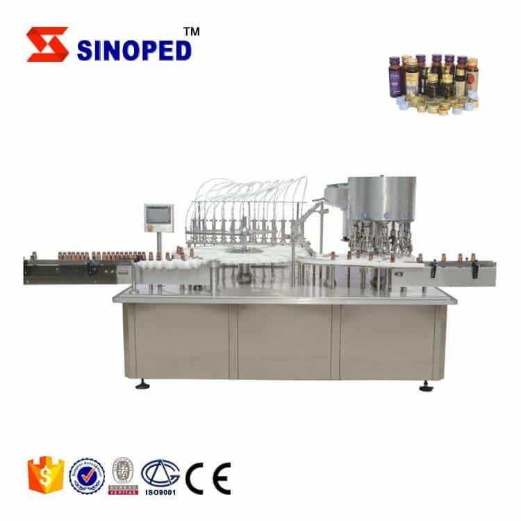 Small bottle capping machine for glue syrup oral liquids perfume filling production line
