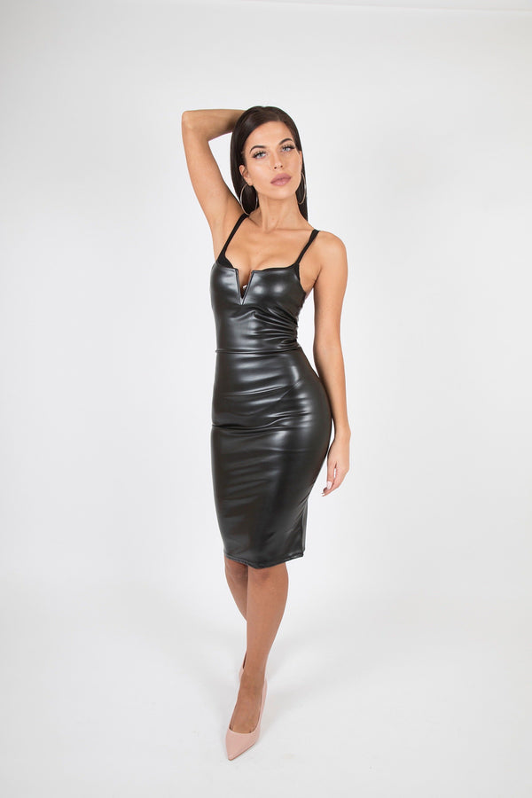 Plunge Neck Bodycon Dress