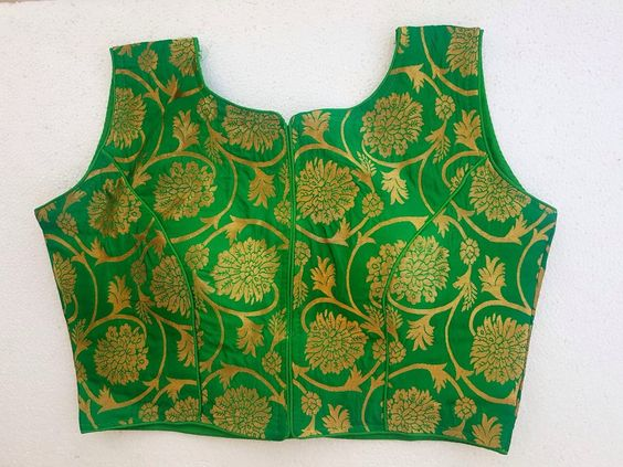 Awesome Green Color Designer Stitch Blouse