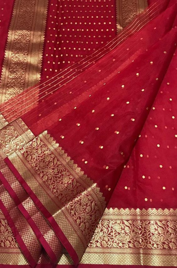OutStanding Red Color Designer Silk  Saree