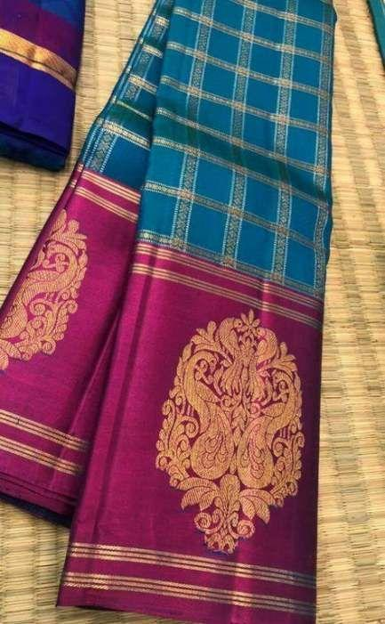 Latest Blue and Pink Color Designer Saree