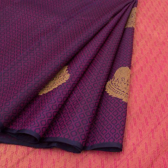 Attractive Rani Pink Color Designer Saree