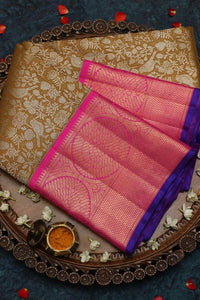 New Latest Coffee Color Kanjivarm Designer Saree