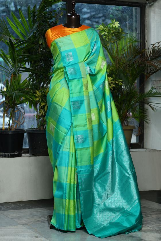 Awesome Multi Color Kanjivarm Designer Saree
