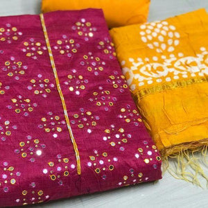 Latest Pink And Yellow Color Salwar Suit