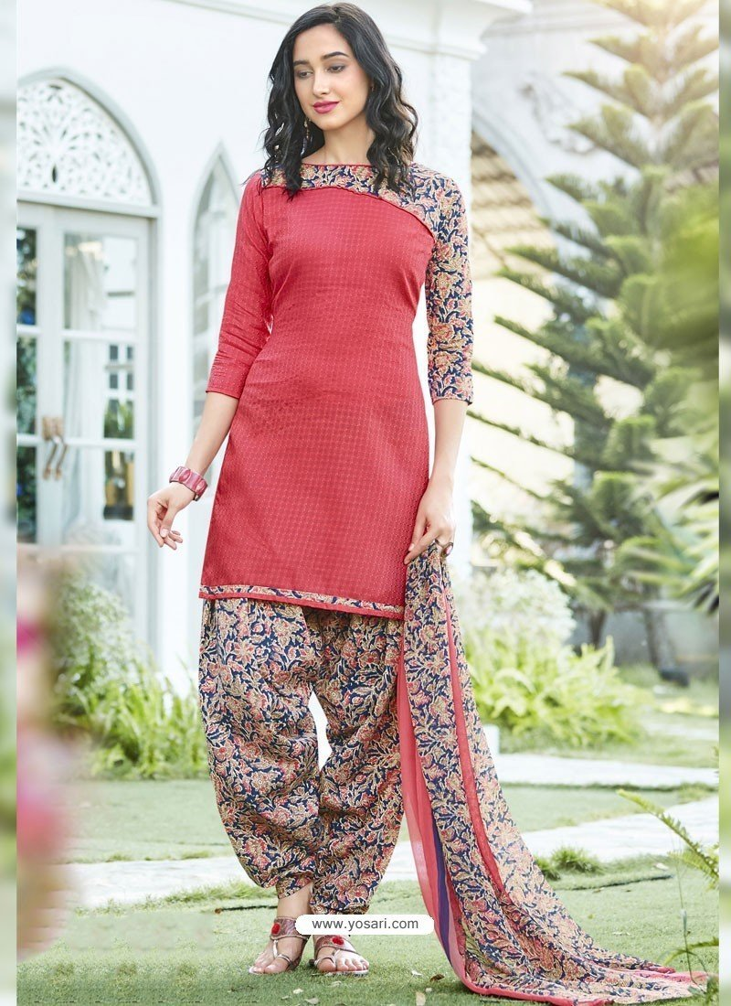 Adhesive Pink  Color Salwar Suit