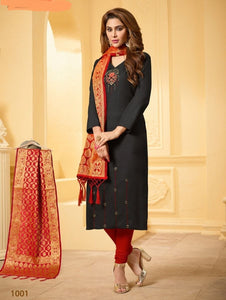 Latest Black & Red Color Salwar Suit