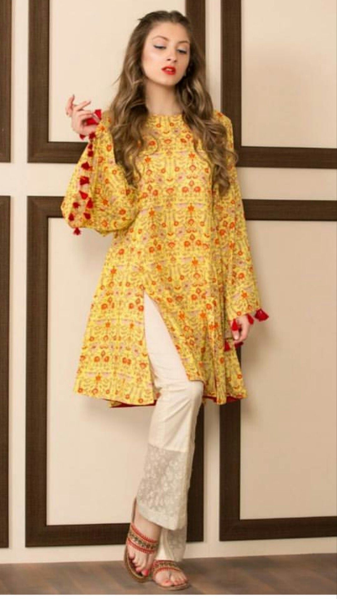 Indian Wear Yellow Color Salwar Suit