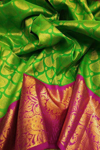 New Look Green Color Designer Saree