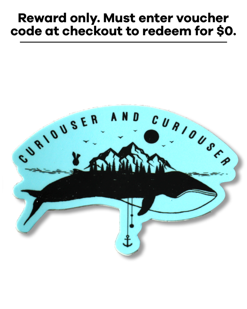 Curious Whale Sticker *Reward Only*