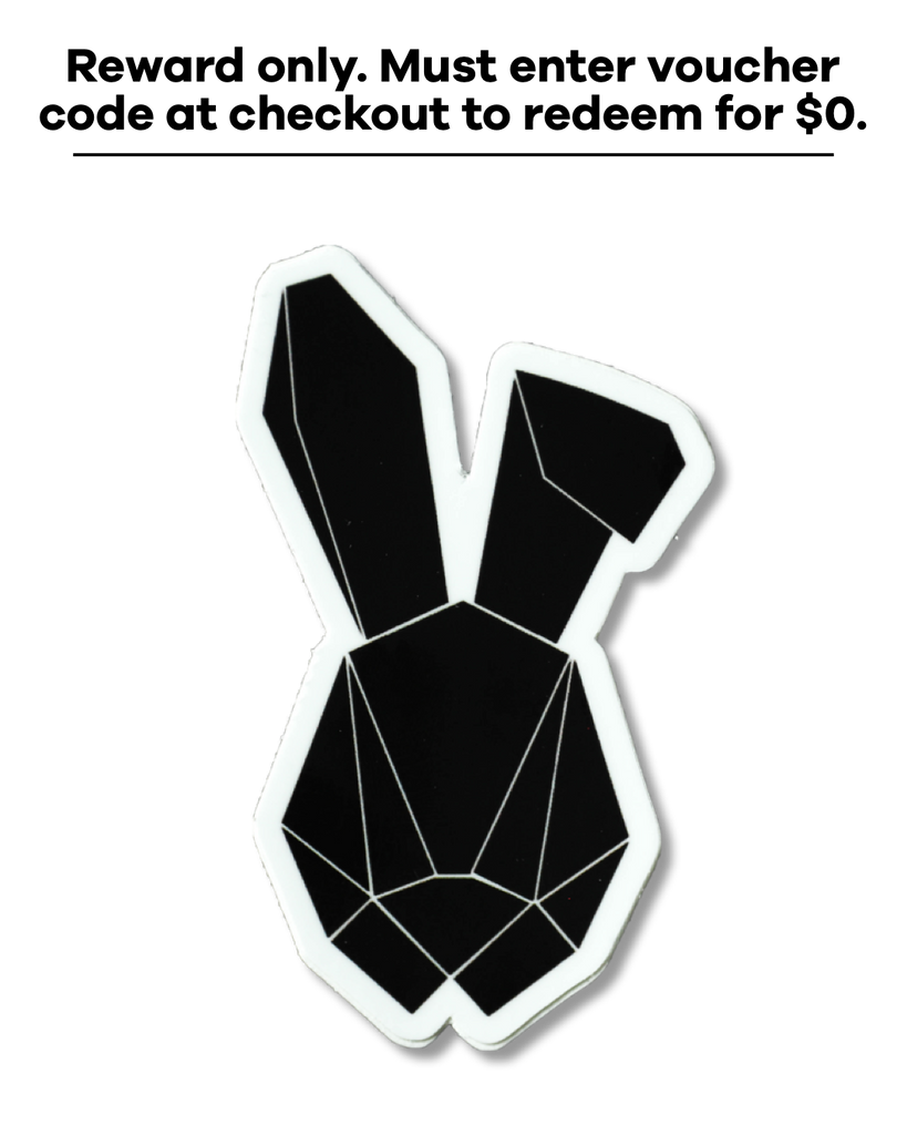 Rabbit Logo Sticker Black *Reward Only*