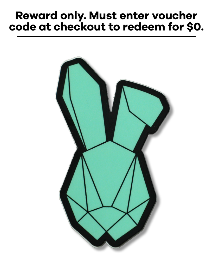 Rabbit Logo Sticker Teal *Reward Only*