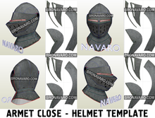Load image into Gallery viewer, Larp Knight Helmet Foam Pattern
