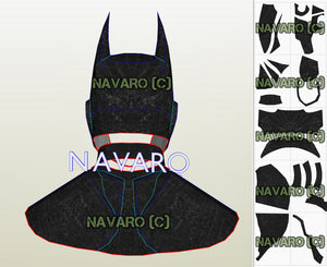 Batman Helmet Cosplay Template