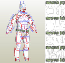 Load image into Gallery viewer, batman armor foam template