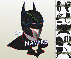 Batman Cowl Foam Pattern