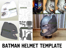 Load image into Gallery viewer, batman helmet template