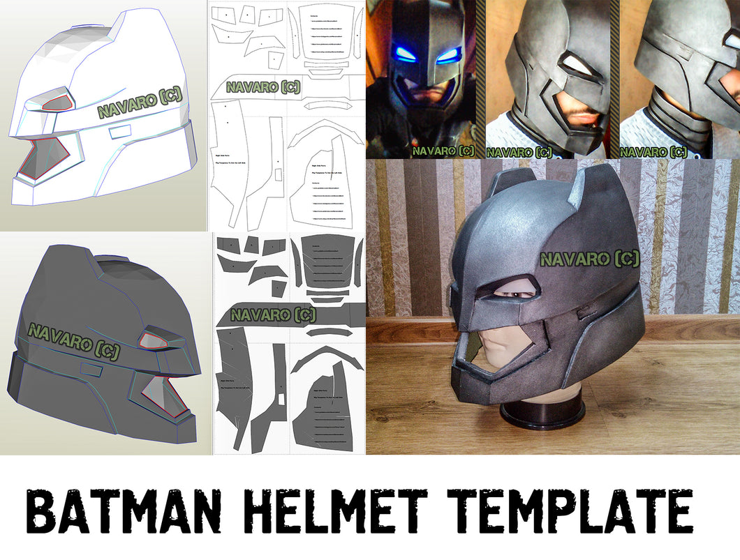 batman helmet template