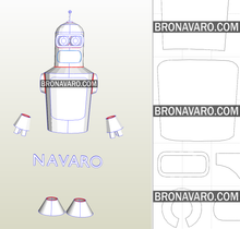 Load image into Gallery viewer, Bender Costume Template