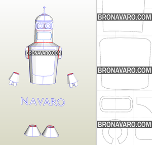 Bender Costume Template