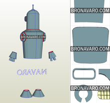 Load image into Gallery viewer, Bender Futurama Cosplay Pattern