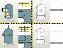 Load image into Gallery viewer, Bender Futurama Helmet Printable Template