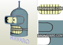 Load image into Gallery viewer, Bender Helmet Foam Template