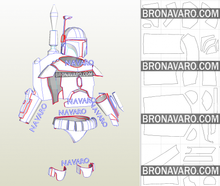 Load image into Gallery viewer, Boba Fett armor printable template