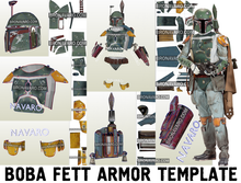 Load image into Gallery viewer, Boba Fett Armor Template