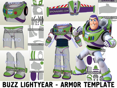 Buzz Lightyear Armor Pepakura Template