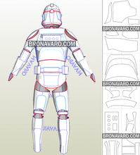 Load image into Gallery viewer, clone trooper armor printable template