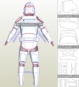 clone trooper armor printable template