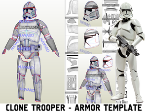 Clone Trooper Armor Template