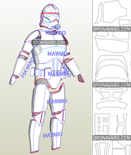 Load image into Gallery viewer, clone trooper armor pepakura