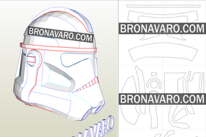 Captain Rex Helmet Template