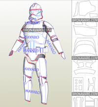Load image into Gallery viewer, clone trooper armor pdo
