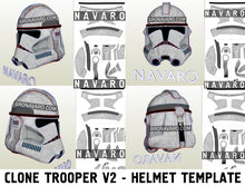 Load image into Gallery viewer, Clone Trooper Phase 2 Helmet Pepakura