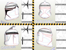 Load image into Gallery viewer, clone trooper helmet foam template